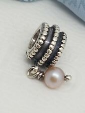 Genuine Pandora Pale Pink Pearl Dangle Charm 790132PP Retired