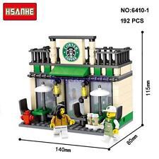 Mini Street Starbucks Coffee Shop Figures Nano Block Diamond Building Toy
