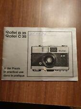 Rollei B 35/C35 in der Praxis/Deutsch/Englisch/Französisch Tb.1976- Original