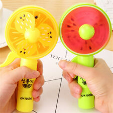 1PC Portable Mini Fruit Fan Hand Press Cooling Fan Kids Toy Gift No Battery OJ