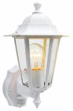 External Security PIR Sensor Wall Coach Lantern or LED Energy Saving Light Bulb 6 Sided White