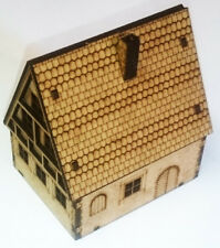 15mm Scale  Post WW2 Small Old German Timber House MDF Kit, Team Yankee or FOW