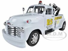 """1953 CHEVROLET 3800 TOW TRUCK WHITE """"ROAD SERVICE"""" 1/24 BY WELLY 22086"""