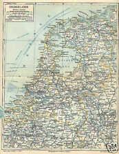NIEDERLANDE Nederland Holland LANDKARTE von 1897