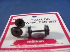 EE 70027 NEW Märklin HO DC Wheel Sets 700270 D10.5L24.0
