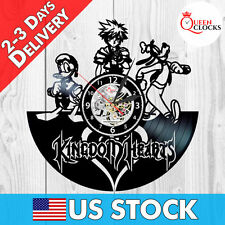 Sora Donald Duck Goofy Kingdom Hearts Vinyl Record Wall Clock Decor Xmas Gifts