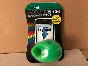 TZUMI Acoustic Boom Phone Speaker & Stand for Smartphone GREEN NEW SEALED