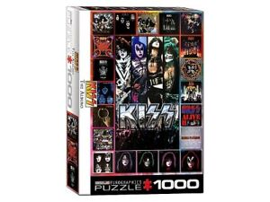 Eurographics 1000 Piece Jigsaw Puzzle - KISS Discography Collage
