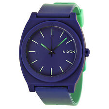 Nixon The Time Teller Blue Dial Blue Silicone Unisex Watch A1191379