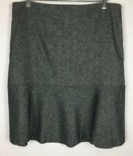 Talbots Skirt Size 8 Black White Flare Wool/Silk Blend Lined Side Zip Career