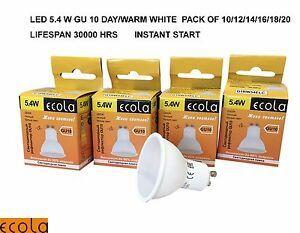 5W LED GU10 from £1.25 ECOLA Spot Light Bulb 10/12/14/16/18/20 DAY/WARM WHITE