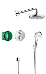 Hansgrohe Round Design Showe Croma Select S Design 2 Way Shower Bundle 27295000