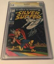 Marvel Comics SILVER SURFER #4 CGC 7.0 OW-W SIGNED BY STAN LEE PERFECT PLACEMENT