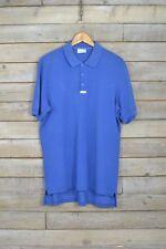 Vintage Adidas azurblau blau Polohemd (L)