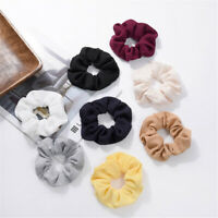 Women Elastic Hair Rope Ring Tie Scrunchie Ponytail Holder Hair Band Headband UK