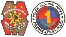 Philippines National Police PNP Region 1 Shulder Patches 4 x 3.25in & 3.75in