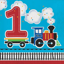 All Aboard Lunch Napkins 1St Birthday
