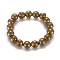 Electroplated NON-Magnetic Hematite Stretch Bracelet Pain Energy Powerful X47