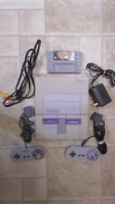 Super Nintendo SNES Console/System Lot w Conrtollers, Hookups, 4 Games - Tested!