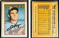 John Habyan Signed 1988 Topps #153 Card Baltimore Orioles Auto Autograph
