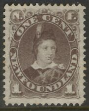 NEWFOUNDLAND 42 1880 1c GREY BROWN PRINCE OF WALES VF MPH CV$90