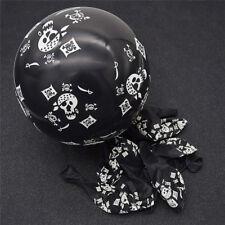 10x Skull Latex Balloons Pirate Theme Halloween Birthday Party Kids Toys Cute