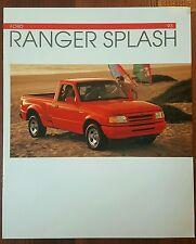 Original 1993 Ford Ranger Splash Dealer Sales Brochure Great Condition!
