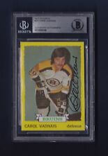 Carol Vadnais signed Bruins 1973-74 Topps hockey card Beckett Authenticated