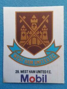 Mobil Football Club Badges Silk 1983 West Ham United