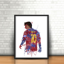Lionel Messi - Barcelona Inspired Football Art Print Design FCB Barca Number 10