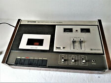 Tape Cassette Recorder Hitachi Deck, Recording and Play Vintage.