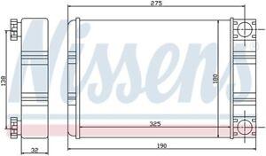 HVAC Heater Core-GAS Front Nissens 72028