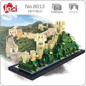 Lezi 8013 World Architecture China Great Wall Mini Diamond Blocks Building Toy
