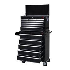 Tool Cabinet Chest Box Drawers Storage Black Garage Workshop Extra Large