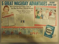 Super Suds Ad: 5 Great Wash Day Advantages ! 1930's