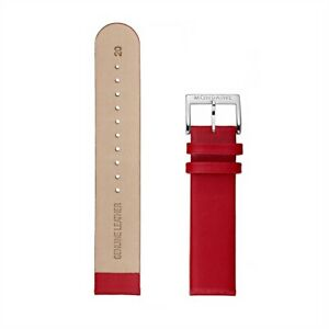 Mondaine Spare Band, Replacement Band Leather Red, Bridge Width 20mm