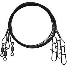 "Eagle Claw Black Heavy Duty 12"" Wire Leaders 3-Pack"