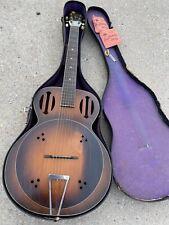 Vintage 1934 Kay Wood Amplifying Guitar Estate Find With Case **Super Rare!**