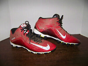 NIKE ALPHA CLEATS Red FAST FLEX size 14 Adult