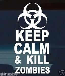 4x4 car KEEP CALM zombie jeep hummer Landcruiser Hilux funny decal sticker