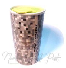 Starbucks Coffee Rodarte Ceramic Double Wall Travel Tumbler Pixel Logo 12oz 12'