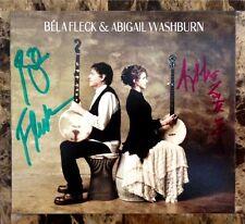 BELA FLECK & ABIGAIL WASHBURN Ltd Ed RARE Hand Signed CD Digipak NEW!