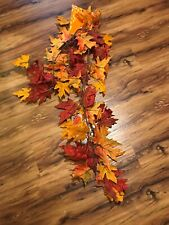 Fall Leaves Garland 6 Foot Long Brown And Orange Hobby Lobby