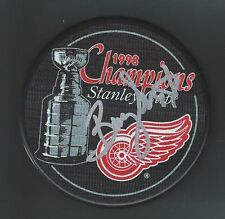 Barry Smith Signed 1998 Stanley Cup Champions Detroit Red Wings Puck