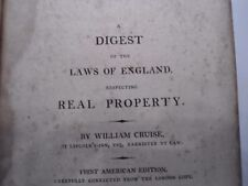 Antique Law Book 1808 First American Edition Vol lV England Real Property Cruise