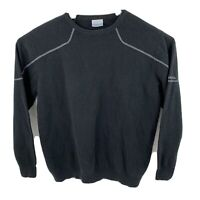 Columbia Sweater Black Pullover Crewneck Outdoors Mens 10% Wool Size L