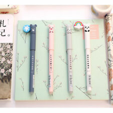 2pcs 0.35mm Cute Cartoon Blue Ink Gel Pen Writing Pens Kawaii Student Stationery