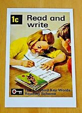 LADYBIRD BOOK COVER PRINTED POSTCARD ~ 1C READ AND WRITE ~ 1964 DESIGN ~ NEW