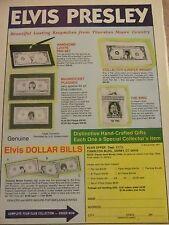 Elvis Presley, Dollar Bills, Full Page Vintage Print Ad