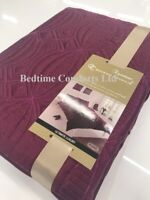 KING SIZE 5' MODERN DUVET COVER + 2 PILLOW CASE BURGUNDY (PEARL)